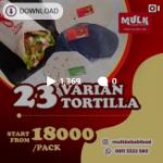 23 varian tortilla dengan harga mulai Rp 18.000