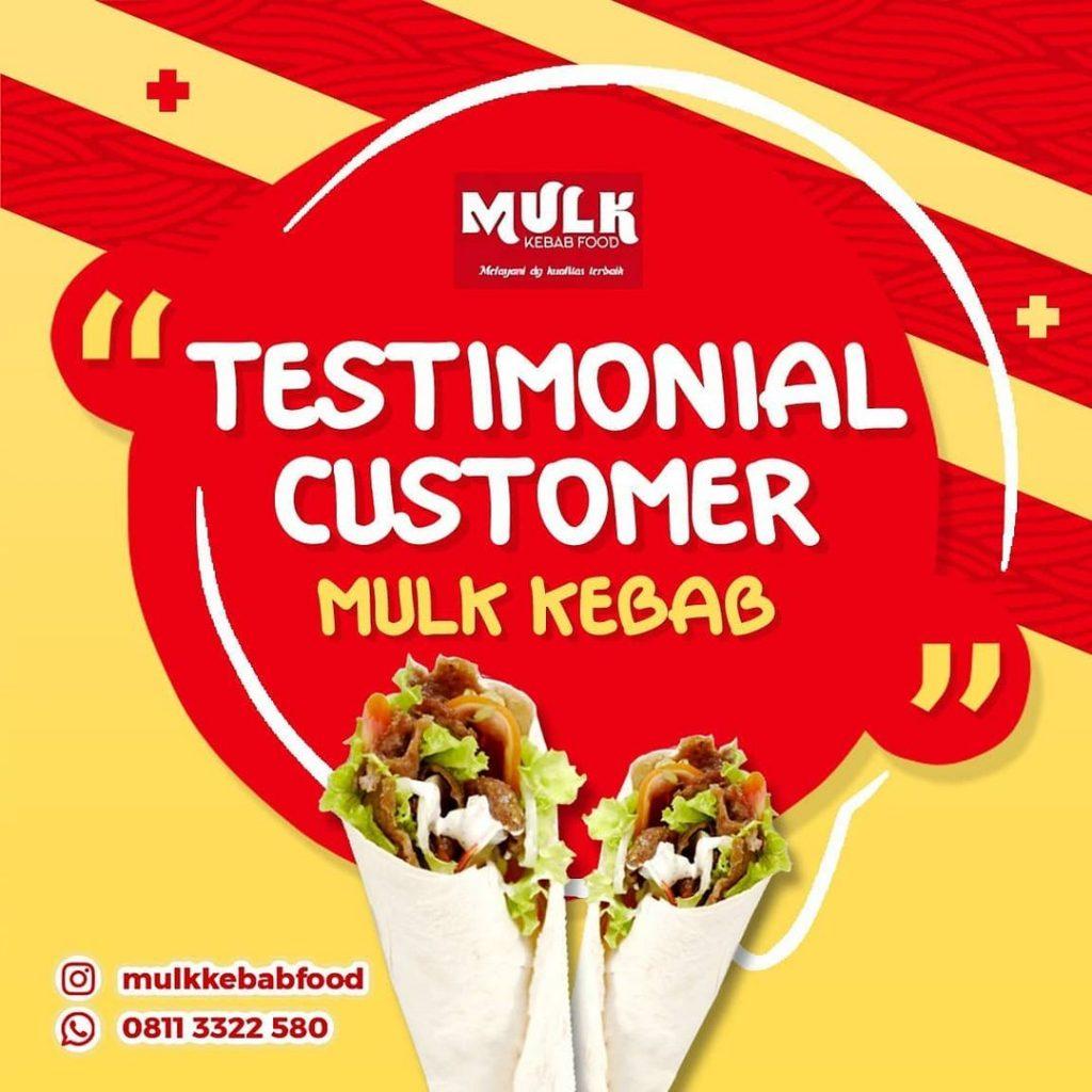 Testimonial customer yang puas dengan produk dan pelayanan