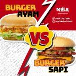 Burger Ayam atau Burger Sapi